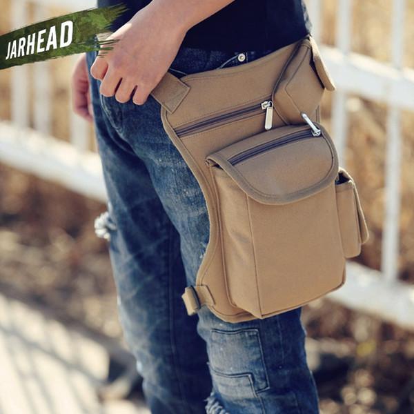Men Canvas Drop Leg Bag Waist Fanny Pack Belt Hip Bum Military travel Multi-purpose Messenger Bags For Work Black High Quality #768027