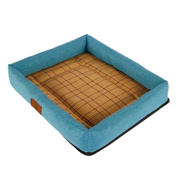 Breathable Summer Pet Dog Cooling Mat Rattan Kennel Heat-Resisting Dogs Bed Cats Nest Sofa Cushion Pets Breathable Puppy Mat Bed House