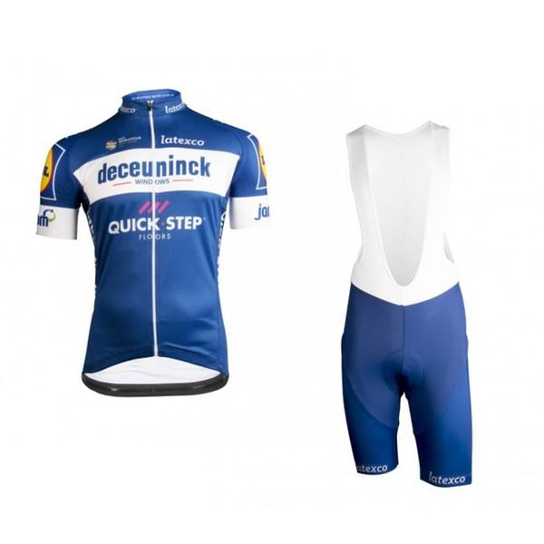2019 Dünya Turu Pro Team Hızlı Adım Deceuninck Bisiklet Jersey Kitleri Kısa Kollu Bisiklet Ropa Ciclismo Erkekler Yaz Bisiklet Bezi Maillot Jel Pedi