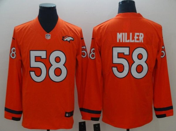 brand new cc474 27692 2019 2019 Mens Jersey Von Miller Bradley Chubb Bradley Chubb Custom Denver  Broncos Color Rush American Womens Football Kids Jersey Elite Limited From  ...