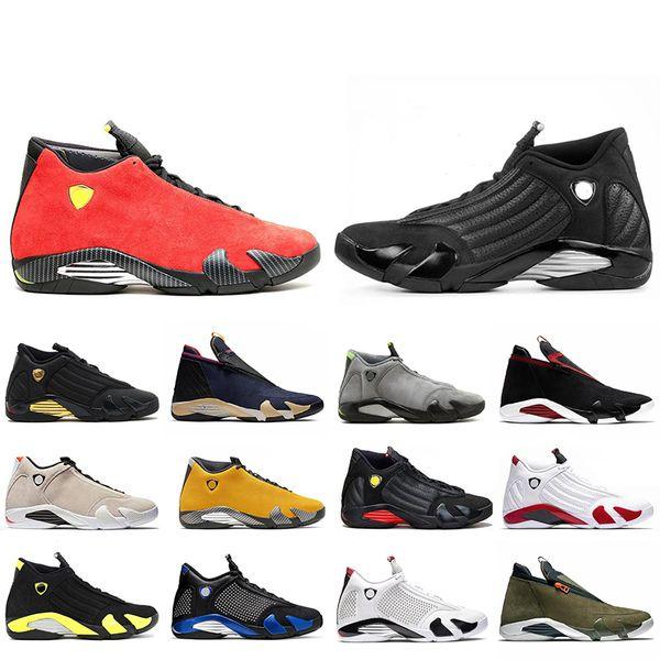 2020 Ucuz 14 14s ÜNİVERSİTESİ ALTIN Hiper Kraliyet Erkekler Basketbol Ayakkabı Doernbecher Şeker Kamışı Thunder Kırmızı Süet Son Eğitmenler Sneakers Shot
