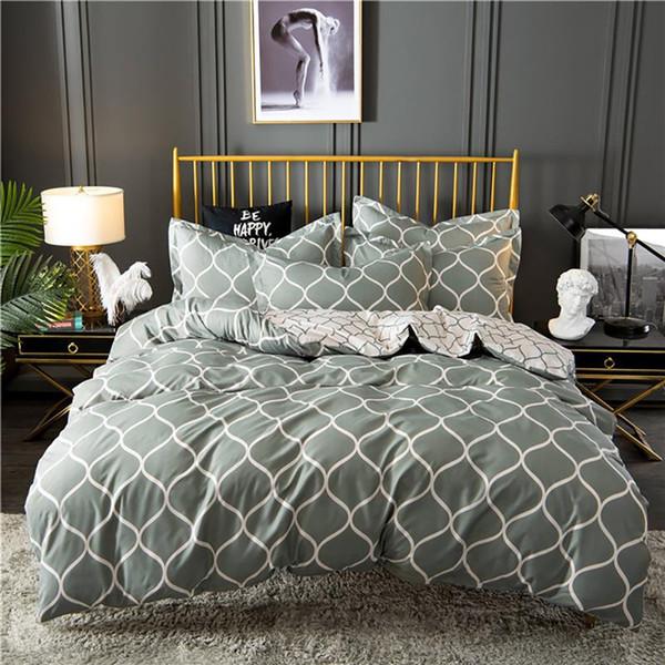 Geometric King Comforter Bedding Set Bed Linen Set Grey Black Duvet Cover Sets Queen Bedding Sets With Pillowcase