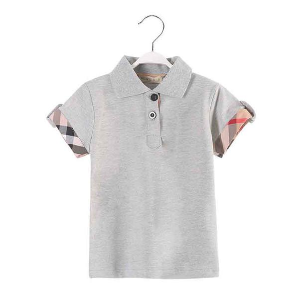 best selling Hot Sale new boy clothes Summer fashion Kids boy tshirt grey color short sleeve boy polo tshirt