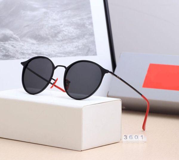 actory wholesale top quality 51mm half frame designer club sunglasses Womens Mens master rlei di UV400 protecton mirror sunglass gafas 3601