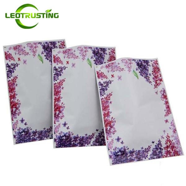 Leotrusting 100pcs/lot Thick Open Top Aluminum Foil Flower Vacuum Bag Resealable Small Heat Sealing Sheet Facial Mask Foil Sealing Bags