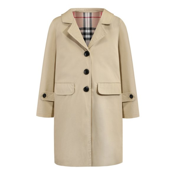 Kids Girls Boys Trench Coat 3-8Y Baby Boy Girl Single Breasted Coats 2019 Autumn Infant Long Coat Children Outwear Clothing S270