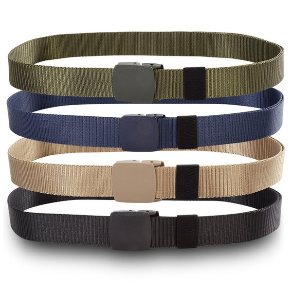 Tactical belt both men and women durable nylon material automatic buckle hunting outdoor utility belt