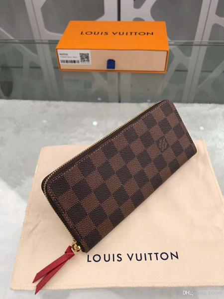 2020 YENİ Klasik N60534 19.5..9..1.5cm moda erkek ve kadın cüzdan, uzun cüzdan, kısa cüzdan, kart sahibinin ücretsiz kargo