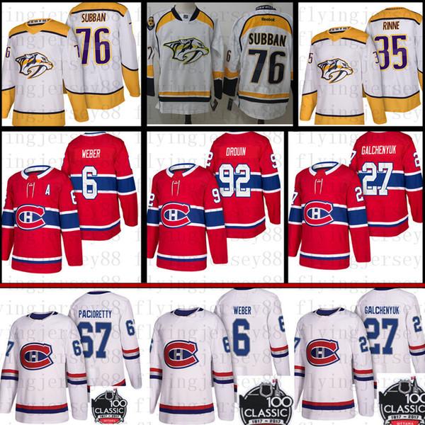 top popular Montreal Canadiens 6 Shea Weber 31 Carey Price 67 Max Pacioretty 27 Alex Galchenyuk Jersey 76 P.K. Subban 35 Pekka Rinne Hockey 2019