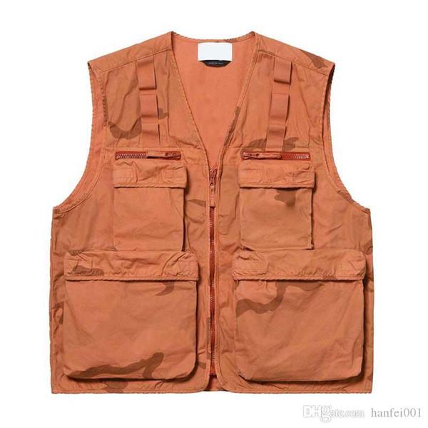 19SS Kamuflaj Kargo Yelek Taktik Giyim Dağ Açık Erkekler Kadınlar Coat Sokak Casual Sport Dış Giyim Ceket KLSJK348