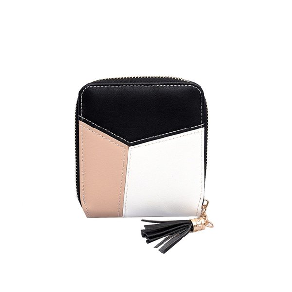 Women Simple Short Wallet Female  Cash Card Holders PU Leather Coin Purse Handbag Retro Hasp Purse Wallets 10May 13