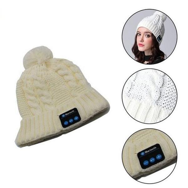Mode Beanie Hat Cap Drahtlose Bluetooth Kopfhörer Smart Headset Lautsprecher Mic Winter Outdoor Sport Stereo Musik Hut
