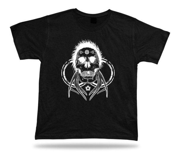 Tshirt Tee Shirt Birthday Gift Idea Skull Hair Weird Creepy Hardcore Stylish
