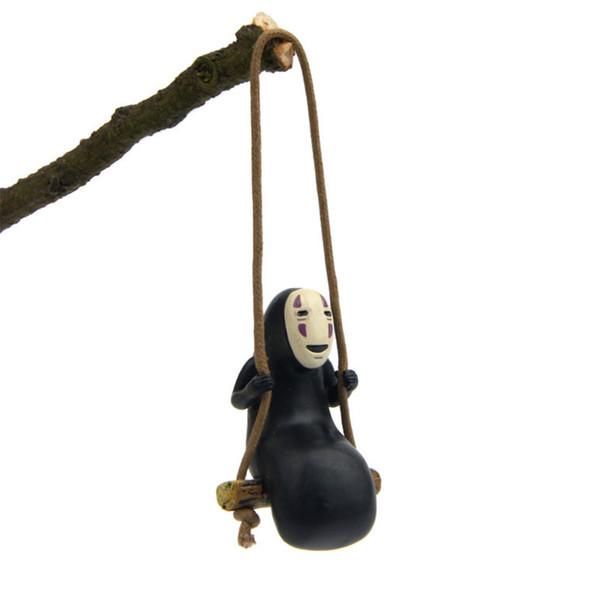 Spirited Away Kein Gesicht Mann Figuren Spielzeug Schlüsselbund Miyazaki Hayao Swing Kein Gesicht Mann Action Modell Schlüsselanhänger Sammlung Dekoration