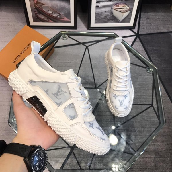 2019i autumn and winter trend wild personality casual shoes men's classic street high-top sneakers, original box packaging, size: 38-45