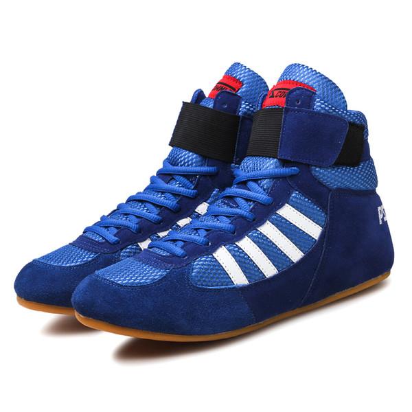 Compre Auténticos Zapatos De Lucha Verisign Para Hombres Zapatos De Entrenamiento Tendon At The End Zapatillas De Cuero Zapatos De Boxeo Profesionales