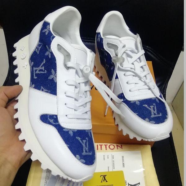 femmes chaussures mode casual avec la boîte, luxe des femmes de chaussures de sport en cuir véritable Sneakers chaussures femmes respirant Tennis Runner espadrille 23