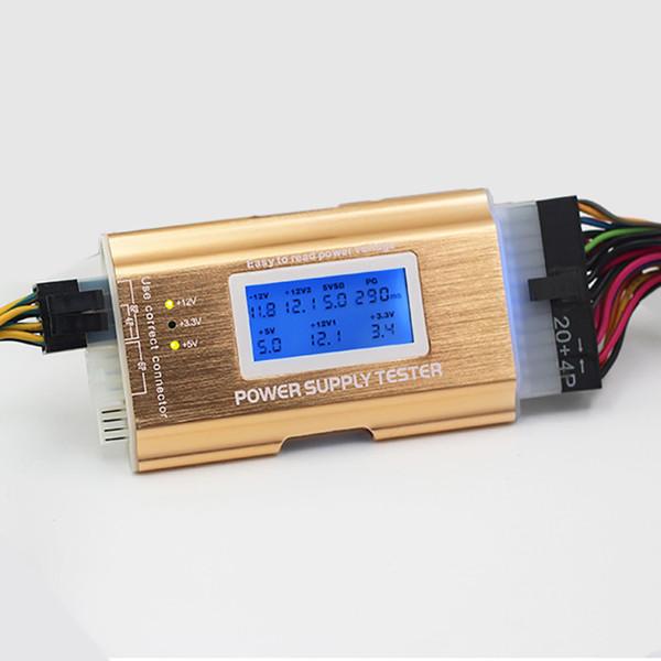 Herramienta de diagnóstico de fallas para el detector de energía A T X de escritorio, todo aluminio LCD
