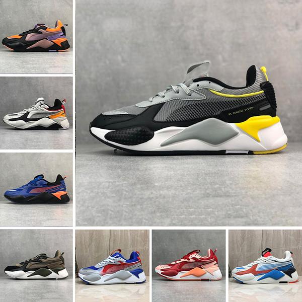 PUMA Ucuz RS-X Yenileme Erkek casual Ayakkabı Serin Siyah beyaz Moda Creepers baba Yüksek Kaliteli Erkek Kadın Koşu Trainer spor Sneakers 36-45