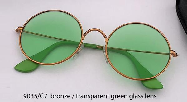 9035 / C7 bronz altın / kristal yeşil