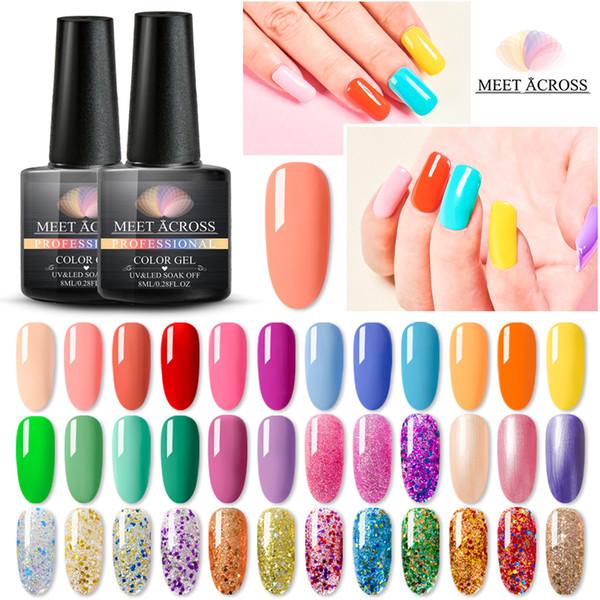 11 pz / lotto Gel smalto per unghie LED Gel UV per smalto per unghie Smalto per unghie Smalto per unghie 8ml Smalto per unghie ibrido set