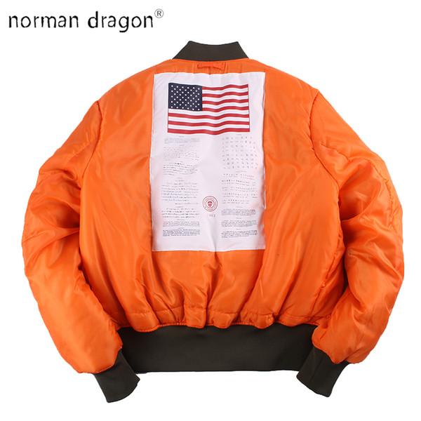 2019 Winter Vintage oversize MA-1 streetwear hip hop military coats clothes double side bomber flight air force pilot jacket men Y190924