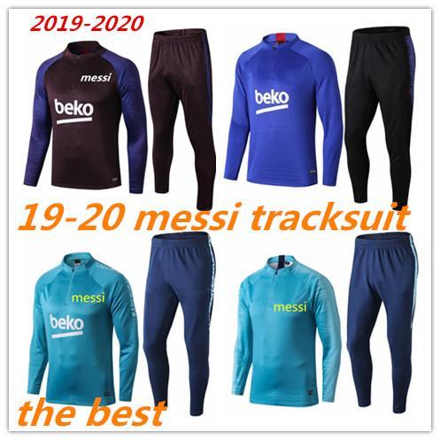 2019 2020 Yetişkin MESSI Eşofman adam set eğitim takım elbise chándal sıcak satış 19 20 futbol Futbol eşofman de fútbol