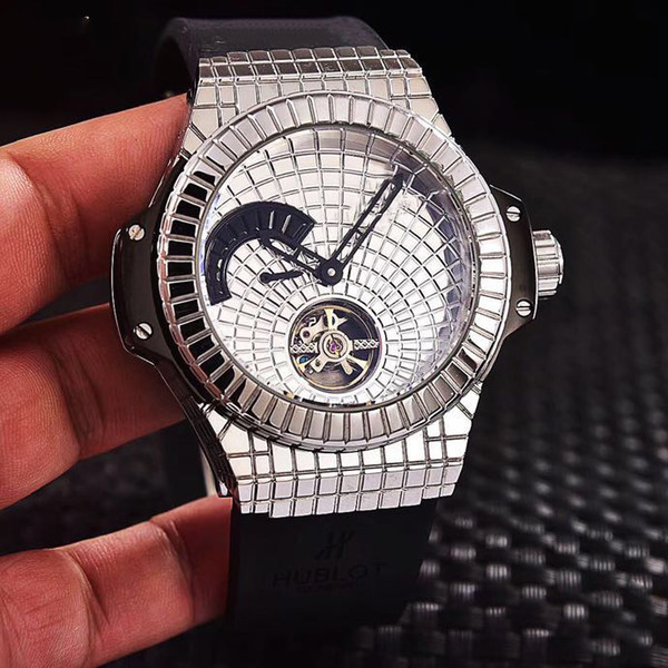 luxury designer man's watch 2019 new black caviar bang full automatic limited edition Diamond mans watches