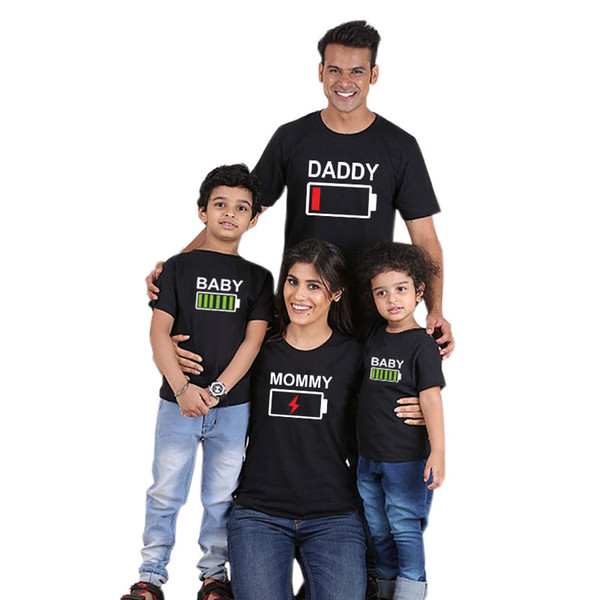 top popular family matching outfits mother and daughter clothes 2019 family matching clothes cotton short Family Matching Short Sleeve T shirt 2019