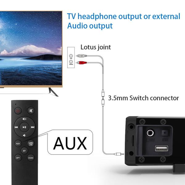 Barre de son Bluetooth Haut-parleur 2.0 canaux TV câblée et sans fil Bluetooth Barre de son audio 31,5 pouces 40W Télécommande pour caisson de basses intégré