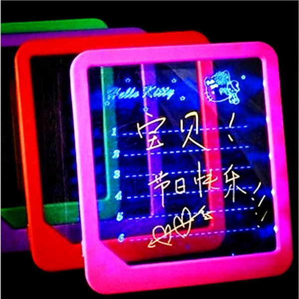 top popular LED Light Fluorescent WordPad Billboard Fun Light Toys for Kids Children Electronic Luminescent Message Board Handwriting Pad 2019