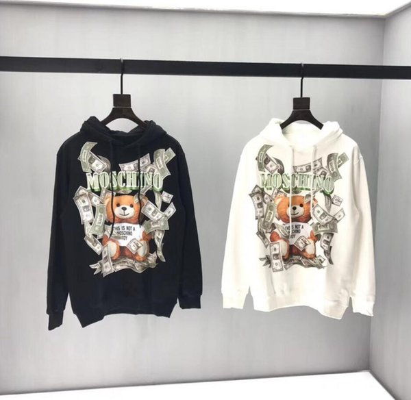 Fashion Brand Designer Sweatshirt Herren Hoodie Paar Sport Tide Box Logo Kleidung Hip Hop Harajuku Moschin O Damen Kleidung
