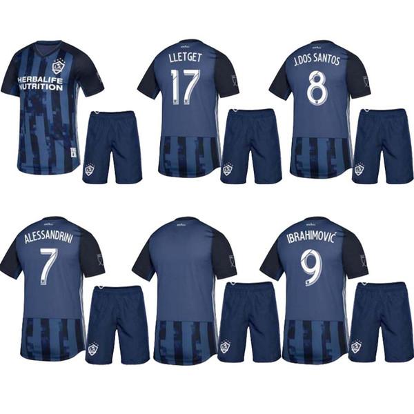 # 9 IBRAHIMOVIC fútbol soccer niños kit 2019 2020 LA Galaxy niños camiseta de fútbol lejos de niños 19 20 GERRARD BECKHAM niño camisetas de correr
