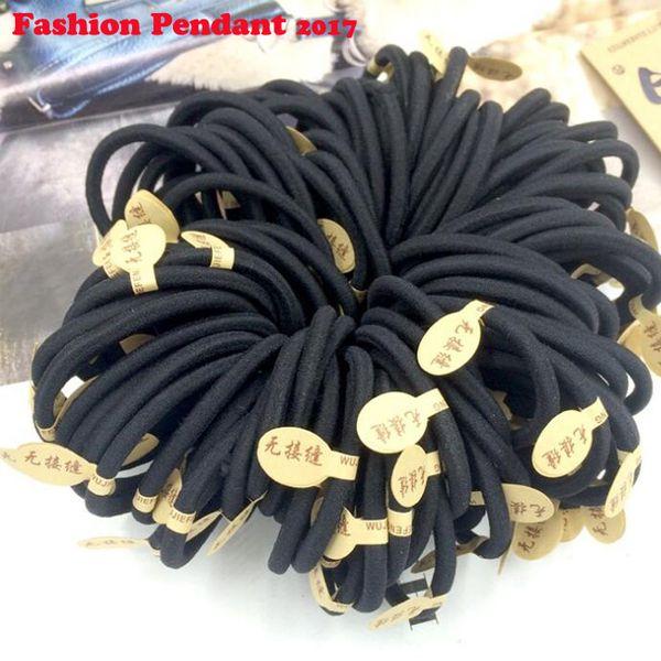 Black Elastic Hairbands for Girls Fashion Women Scrunchie Gum for Hair Accessories Elastic Hair Bands dhl