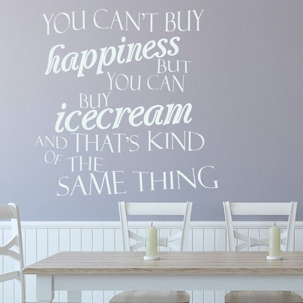 You Can Buy Icecream Wall Sticker Kitchen Quotes Wall Decal Funny Cafe Wall Stickers Home Decor