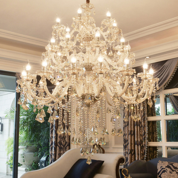 2019 luxury cognate cry tal chandelier for living room lu tre ala de jantar cri tal modern chandelier light fixture wedding decoration
