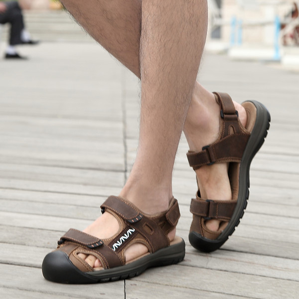 Men Shoes Hot Sale New Fashion Summer Leisure Beach High Quality Leather Sandals The Big Yards Men's Sandals Size 38-45