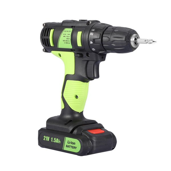Sans fil 21V électrique rechargeable Drill Tournevis à main Outil professionnel de haute qualité