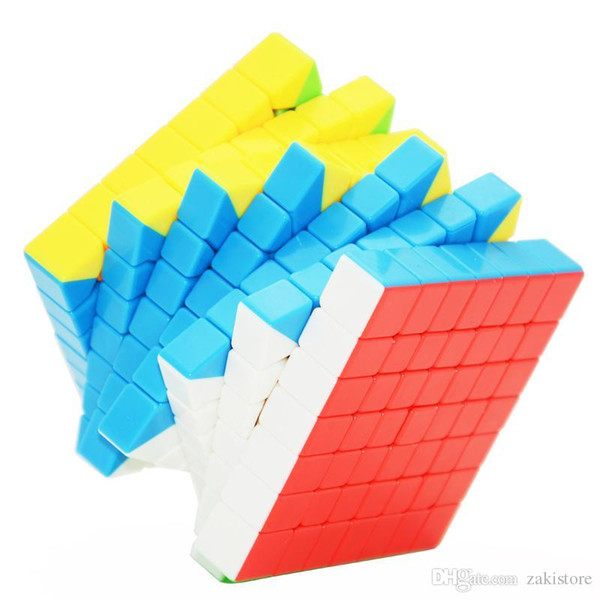 Novo 2017 MoYu MF7S 7x7 Cubo 7-Camada Magia Preto Branco Stickerless Profissional Puzzle Brinquedos Para Crianças 7 * 7 * 7 Cubo Fidget Cubo