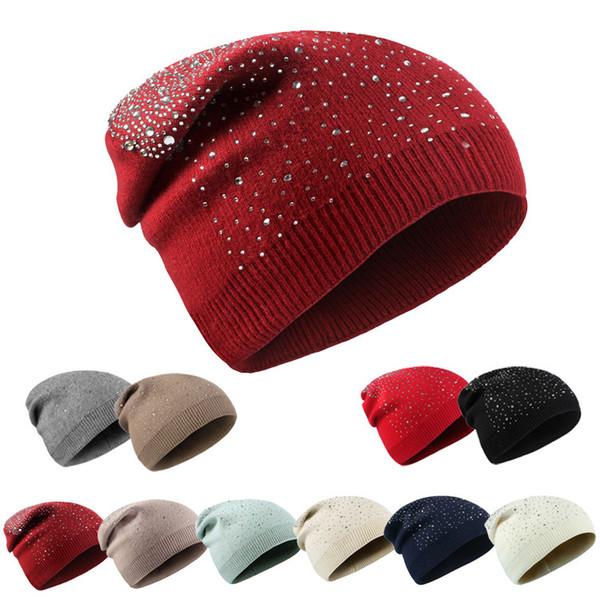 High Quality Rabbit Fur Knit Rib Beanie Winter Slouchy Hear Ear Warmer Hat For Adutls Mens Womens Sports Snow Cap Woman Chemo Hair Bonnet