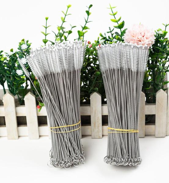 17cm Brosses de nettoyage pour acier inoxydable Nettoyeur potable Pailles Brosse pour acier inoxydable Tumbler Straws Soies de nylon