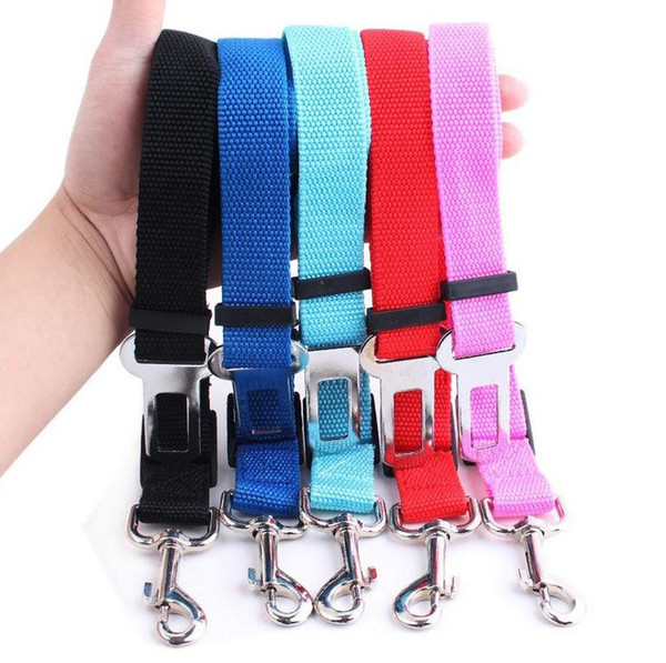 best selling Hot Sale 6 Colors Cat Dog Car Safety Seat Belt Harness Adjustable Pet Puppy Pup Hound Vehicle Seatbelt Lead Leash for Dogs 500pcs SN2420