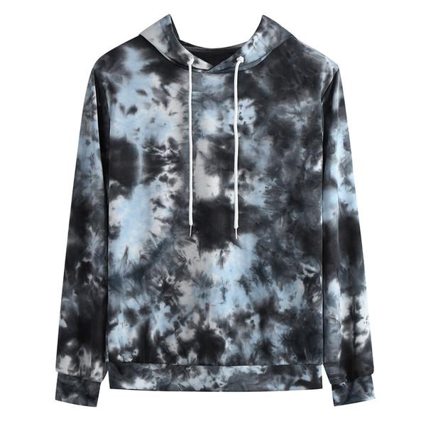 2019 New Men Hoodies Sweatshirts Print Streetwear Clothing Fashionable Personality Men Autumn And Winter Tie-dye Hoodie Hot#G15