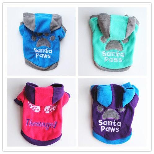 Pets Puppy Clothes Dog Spring Autumn Clothing Fund Keep Warm With Hat Sweat Shirt Sweater Small Dog Clothes Winter ropa de perro