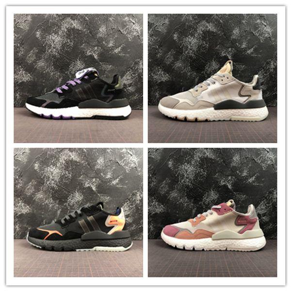nite jogger 3M réfléchissant Running jogging Chaussures Hommes Femmes Baskets baskets baskets top qualité entraîneur EG2205 CG5950 CG7088 DA8666 EE6254