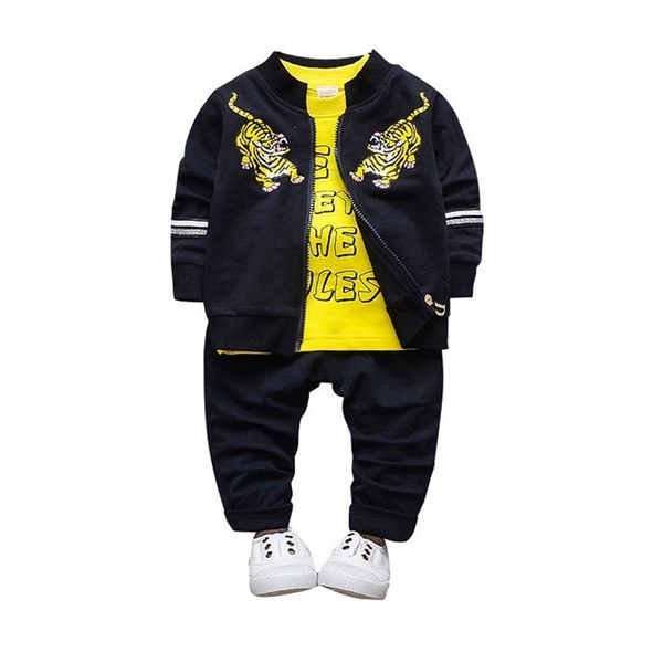 2019 Newborn Baby Boys Girl Clothes Spring Autumn T shirt Coat Pants 3PCS/Sets Outfits Kids Jogging Suits Childrens Tracksuits