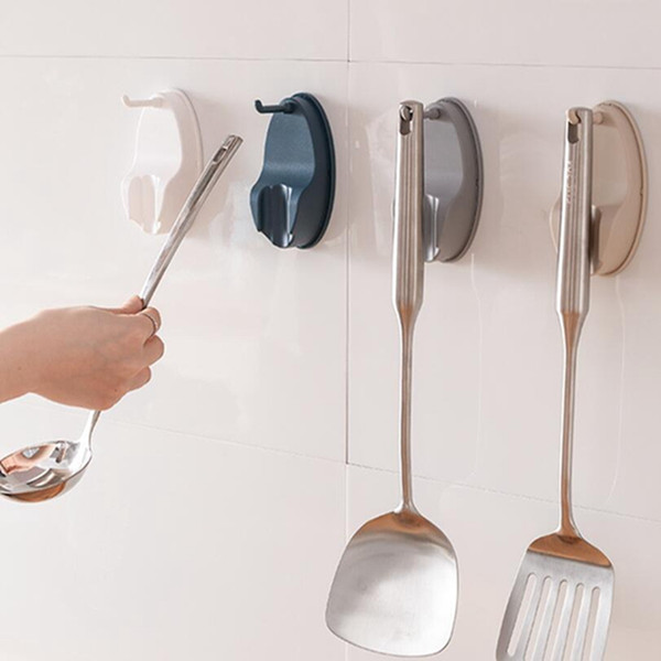 Creative Kitchen Cabinet Hook Kitchenware Rotating Hook Paste Wall-mounted Non-wall Spatula Spoon Saves Space
