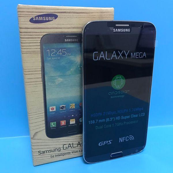 Refurbished Samsung Galaxy Mega 6.3 I9200 Cell Phones 6.3Inch Screen Dual Core 16G ROM 8.0MP Unlocked Original LCD