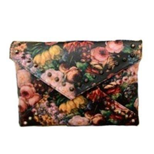 2019 Women Envelope Clutch Oil Painting Rivet Day Clutches Designer Famous Brands Shoulder Bags Crossbody Messenger Bags Ab0050