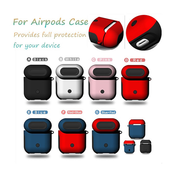 Luxury Silicone Earphone Covers for Airpods TWS i10 i12 Case Soft TPU + PC Dual Layer Armor Case For Apple Airpods Silicone Cover Bags
